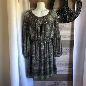 Studio M Gray and Green Paisley dress, Small. Cute